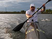 paddling workout with Thunderbolt kayak