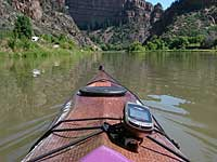 kayak on Colorado River Glenwood Canyon