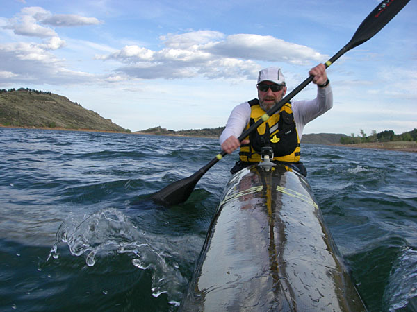 Thunderbolt kayak on Horsetooth Reservoir