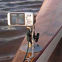 suction cup camera mount on kayak