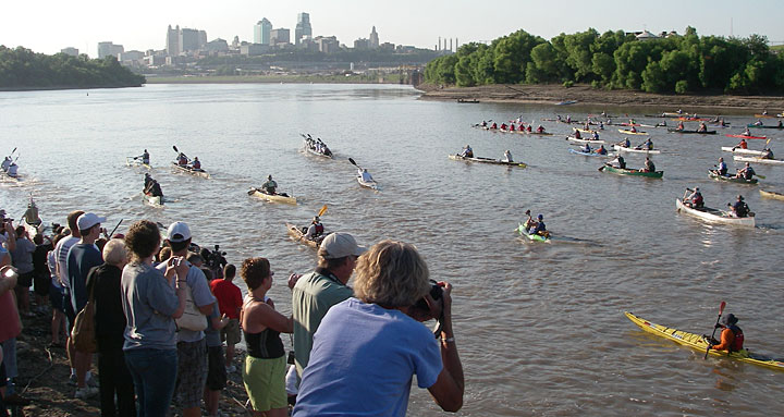 2008 Missouri River 340 start at Kaw Point