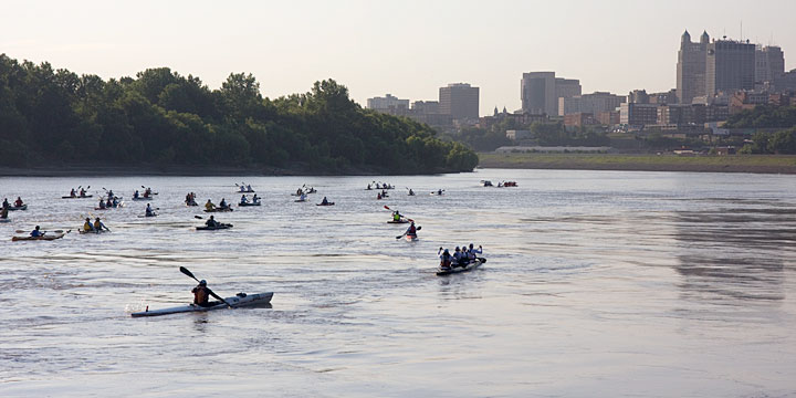 Missouri River 340 Race - Kaw Point
