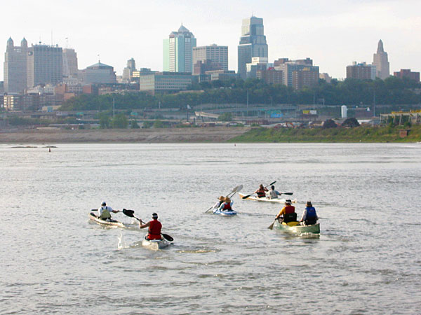Kaw Point - start of the first Missouri RIver 340 race